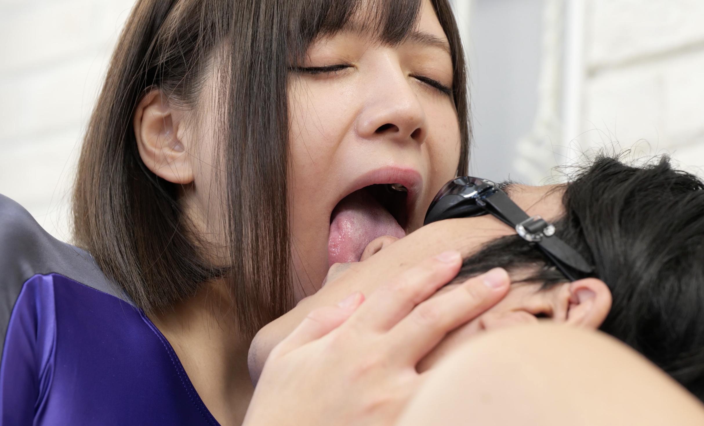 【咀嚼・舌ベロ・鼻フェラ・手コキ】大人気女優 一条みおチャンの舌ベロ観察&顔舐め!